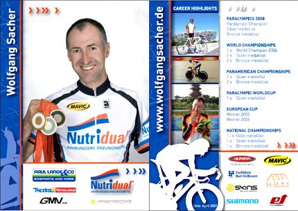 Autogrammkarte Wolfgang Sacher 2009